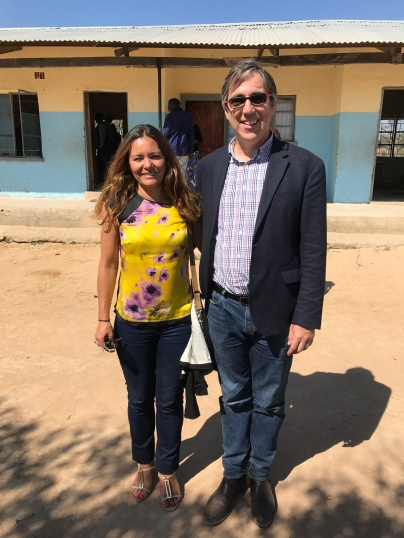 Mark and Isabel at Gamela school