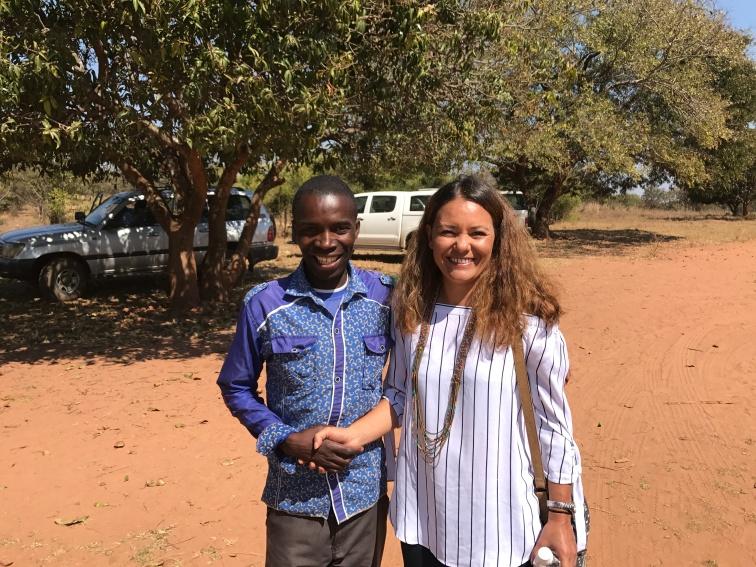 Isabel and Professor, Kalalusaka Dressmaking teacher